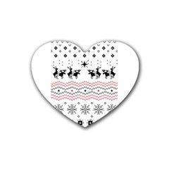 Ugly Christmas Humping Heart Coaster (4 Pack)  by Onesevenart