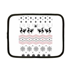 Ugly Christmas Humping Netbook Case (small)  by Onesevenart