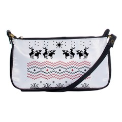 Ugly Christmas Humping Shoulder Clutch Bags by Onesevenart