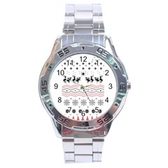 Ugly Christmas Humping Stainless Steel Analogue Watch by Onesevenart