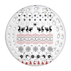 Ugly Christmas Humping Ornament (round Filigree) by Onesevenart