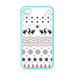 Ugly Christmas Humping Apple Iphone 4 Case (color) by Onesevenart
