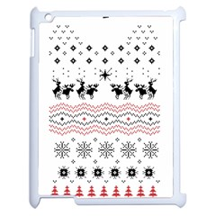 Ugly Christmas Humping Apple Ipad 2 Case (white) by Onesevenart