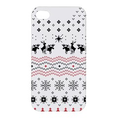 Ugly Christmas Humping Apple Iphone 4/4s Premium Hardshell Case by Onesevenart