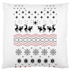 Ugly Christmas Humping Large Cushion Case (two Sides) by Onesevenart