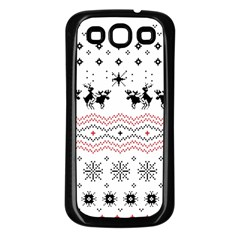 Ugly Christmas Humping Samsung Galaxy S3 Back Case (black) by Onesevenart