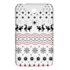 Ugly Christmas Humping Samsung Galaxy Tab 3 (7 ) P3200 Hardshell Case  by Onesevenart