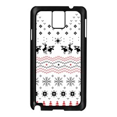 Ugly Christmas Humping Samsung Galaxy Note 3 N9005 Case (black) by Onesevenart