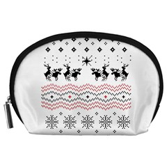 Ugly Christmas Humping Accessory Pouches (large)  by Onesevenart
