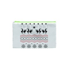 Ugly Christmas Humping Cosmetic Bag (xs) by Onesevenart