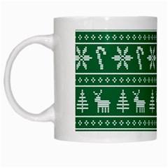 Ugly Christmas White Mugs by Onesevenart