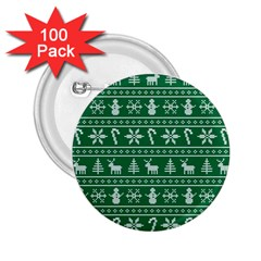 Ugly Christmas 2 25  Buttons (100 Pack)  by Onesevenart