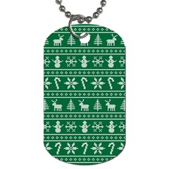 Ugly Christmas Dog Tag (two Sides) by Onesevenart