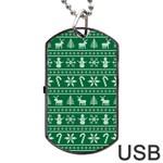 Ugly Christmas Dog Tag USB Flash (Two Sides)