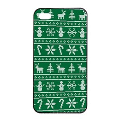 Ugly Christmas Apple Iphone 4/4s Seamless Case (black) by Onesevenart