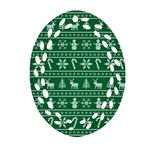 Ugly Christmas Oval Filigree Ornament (Two Sides)