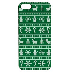 Ugly Christmas Apple Iphone 5 Hardshell Case With Stand by Onesevenart
