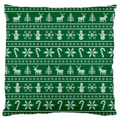 Ugly Christmas Standard Flano Cushion Case (two Sides) by Onesevenart