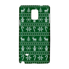 Ugly Christmas Samsung Galaxy Note 4 Hardshell Case by Onesevenart