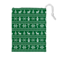Ugly Christmas Drawstring Pouches (extra Large) by Onesevenart