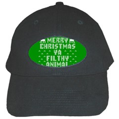 Ugly Christmas Sweater Black Cap by Onesevenart