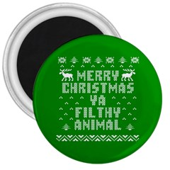 Ugly Christmas Sweater 3  Magnets by Onesevenart