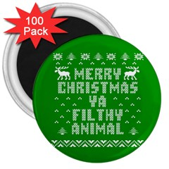 Ugly Christmas Sweater 3  Magnets (100 Pack) by Onesevenart