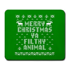 Ugly Christmas Sweater Large Mousepads by Onesevenart