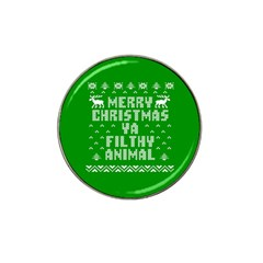 Ugly Christmas Sweater Hat Clip Ball Marker by Onesevenart
