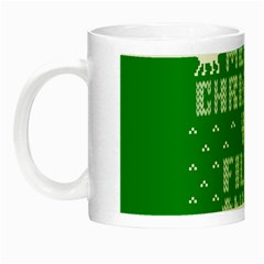Ugly Christmas Sweater Night Luminous Mugs by Onesevenart