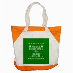 Ugly Christmas Sweater Accent Tote Bag by Onesevenart