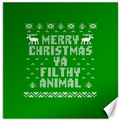 Ugly Christmas Sweater Canvas 16  X 16   by Onesevenart
