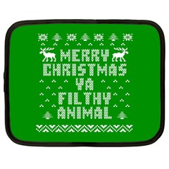 Ugly Christmas Sweater Netbook Case (large) by Onesevenart