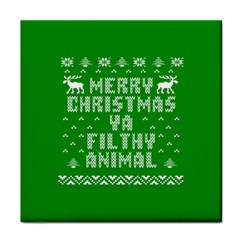 Ugly Christmas Sweater Face Towel by Onesevenart