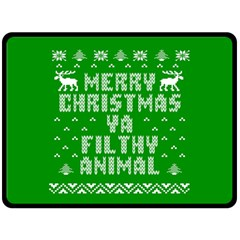 Ugly Christmas Sweater Fleece Blanket (large)  by Onesevenart