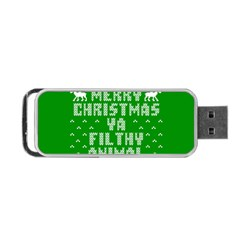 Ugly Christmas Sweater Portable Usb Flash (two Sides) by Onesevenart