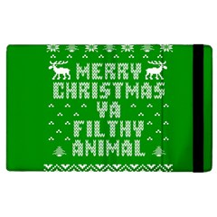 Ugly Christmas Sweater Apple Ipad 3/4 Flip Case by Onesevenart