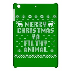 Ugly Christmas Sweater Apple Ipad Mini Hardshell Case by Onesevenart