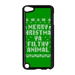 Ugly Christmas Sweater Apple Ipod Touch 5 Case (black) by Onesevenart