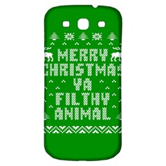 Ugly Christmas Sweater Samsung Galaxy S3 S Iii Classic Hardshell Back Case by Onesevenart