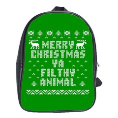 Ugly Christmas Sweater School Bags (xl)  by Onesevenart