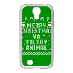 Ugly Christmas Sweater Samsung Galaxy S4 I9500/ I9505 Case (white) by Onesevenart