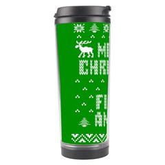 Ugly Christmas Sweater Travel Tumbler by Onesevenart