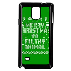 Ugly Christmas Sweater Samsung Galaxy Note 4 Case (black) by Onesevenart