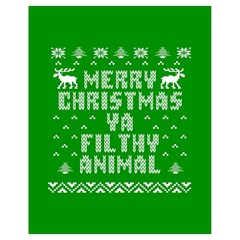 Ugly Christmas Sweater Drawstring Bag (small) by Onesevenart