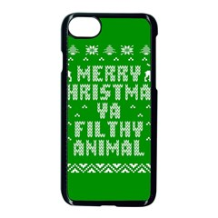 Ugly Christmas Sweater Apple Iphone 7 Seamless Case (black) by Onesevenart