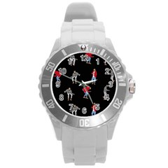 Drake Ugly Holiday Christmas Round Plastic Sport Watch (l) by Onesevenart
