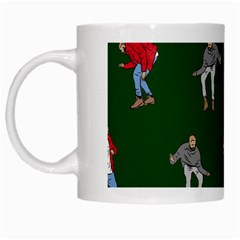 Drake Ugly Holiday Christmas White Mugs by Onesevenart