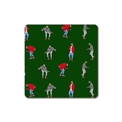 Drake Ugly Holiday Christmas Square Magnet by Onesevenart