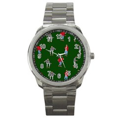Drake Ugly Holiday Christmas Sport Metal Watch by Onesevenart